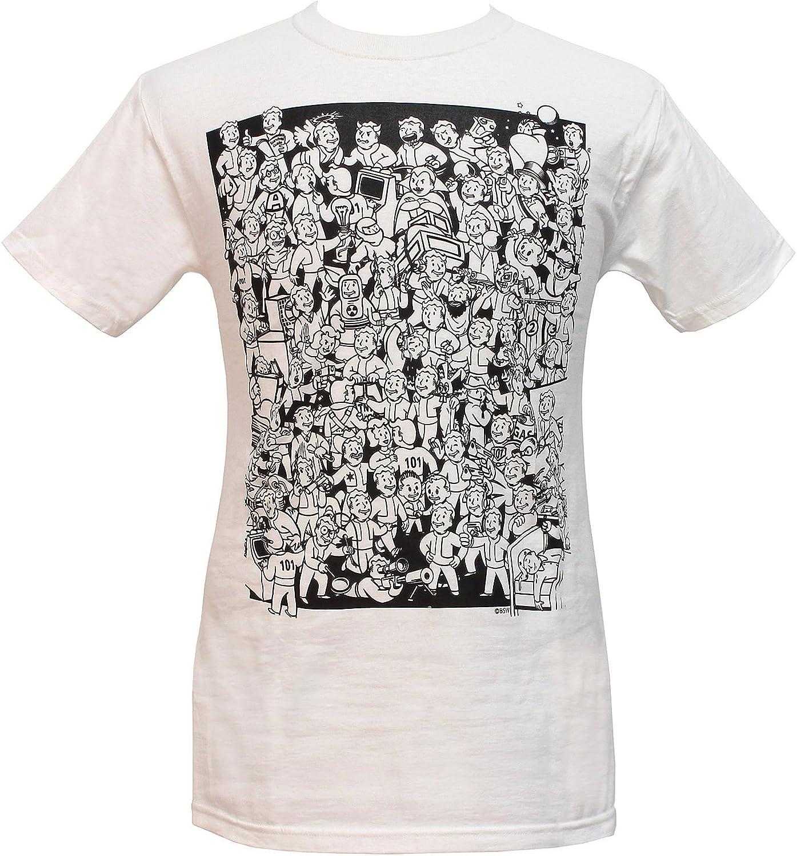 Fallout T-Shirt Three Vault Boys Mens T-Shirt White