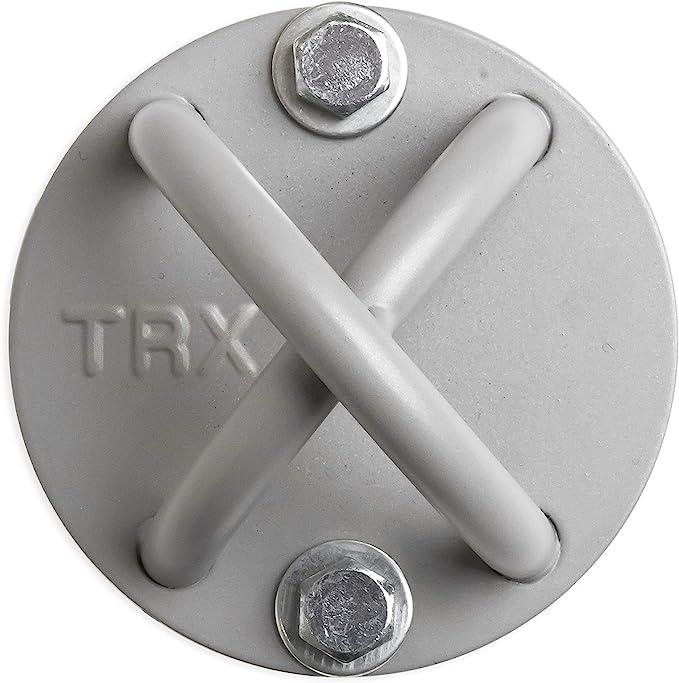 TRX Entrenamiento Montaje en X Gris - Punto de Anclaje - Instale Casi en Cualquier Lugar - Durable y Discreto