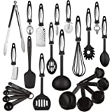 24 Piece Kitchen Utensil Set - Heat Resistant, Comfortable Ergonomic Design, Dishwasher Safe - PVC and BPA Free - Gift Box Package - By HomEquip