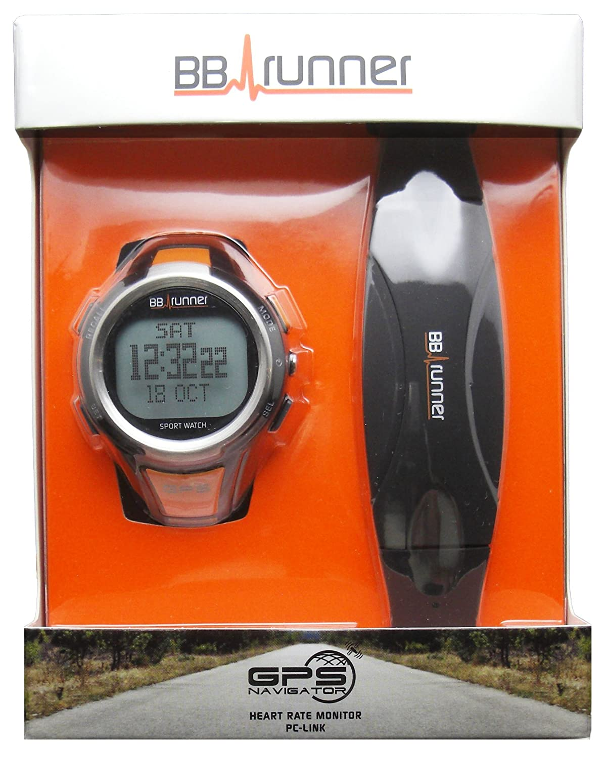 B BB-runner GPS Sport watch with Heart Rate Monitor
