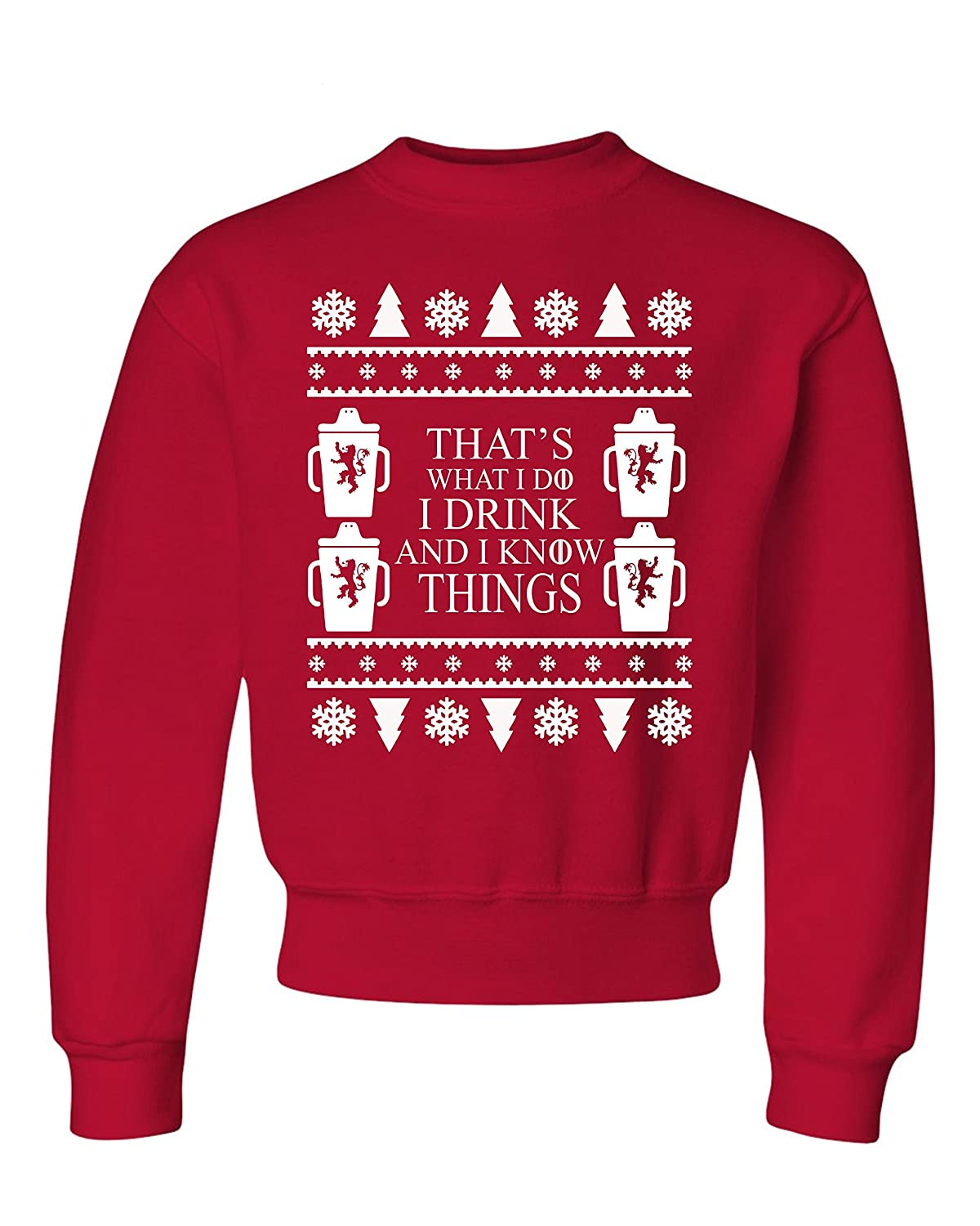 I Drink And I Know Things Ugly Christmas Sweater Kids