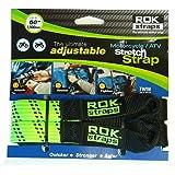 ROK Strap Ajustável para Motocicleta 45,72 cm - 152,44 cm Pacote com 2 - Verde limão