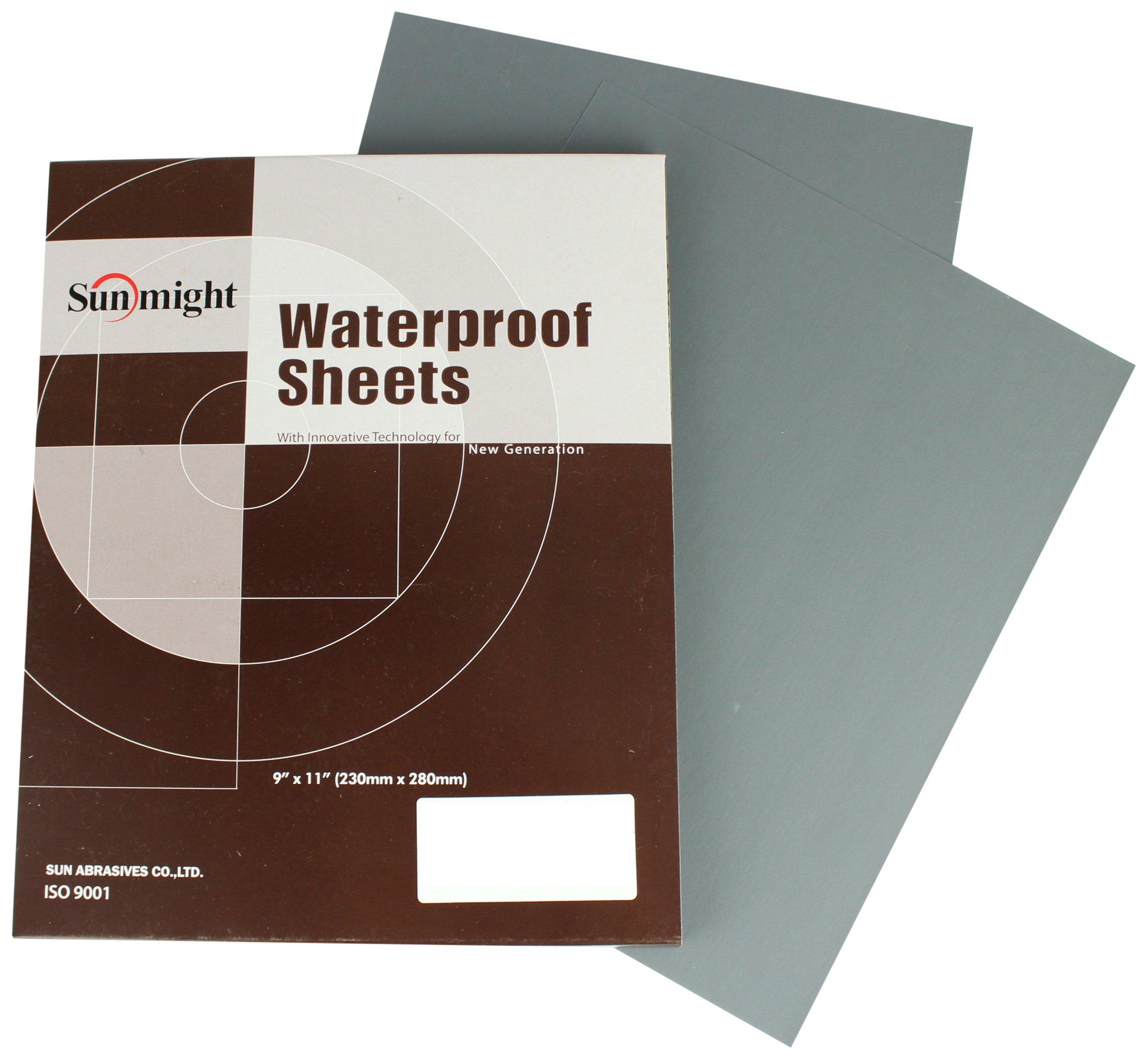Sunmight 08117 1 Pack 9'' X 11'' Plain Sheet (Waterproof Grit 500)