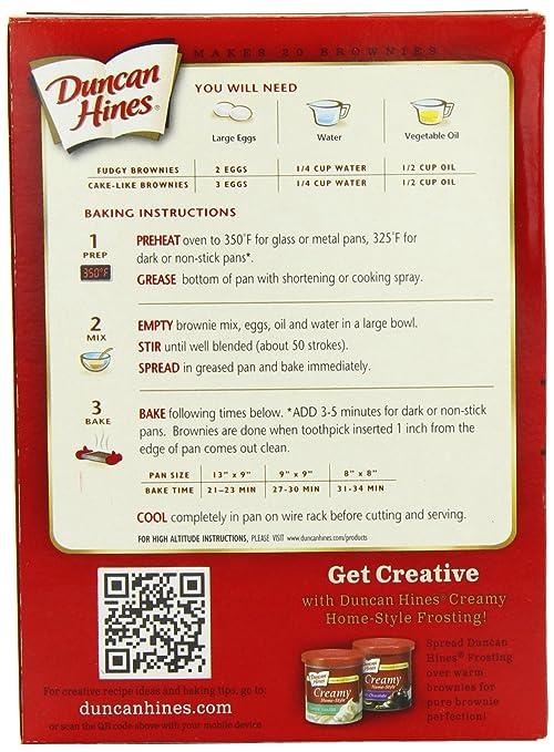 Amazon Duncan Hines Brownie Mix Milk Chocolate 18 Ounce