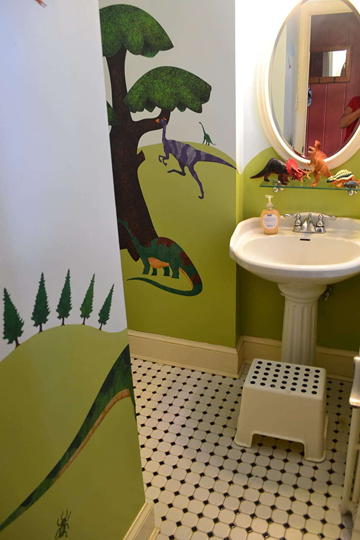 Amazon.com: MyWonderfulWalls Dinosaur Wall Sticker Kit Easy,Peel ...
