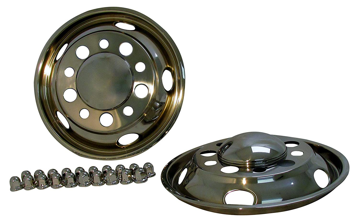 Kaper II SS-2252FC-825 Polished Stainless Steel Front Wheel Simulator Set 2 Pack