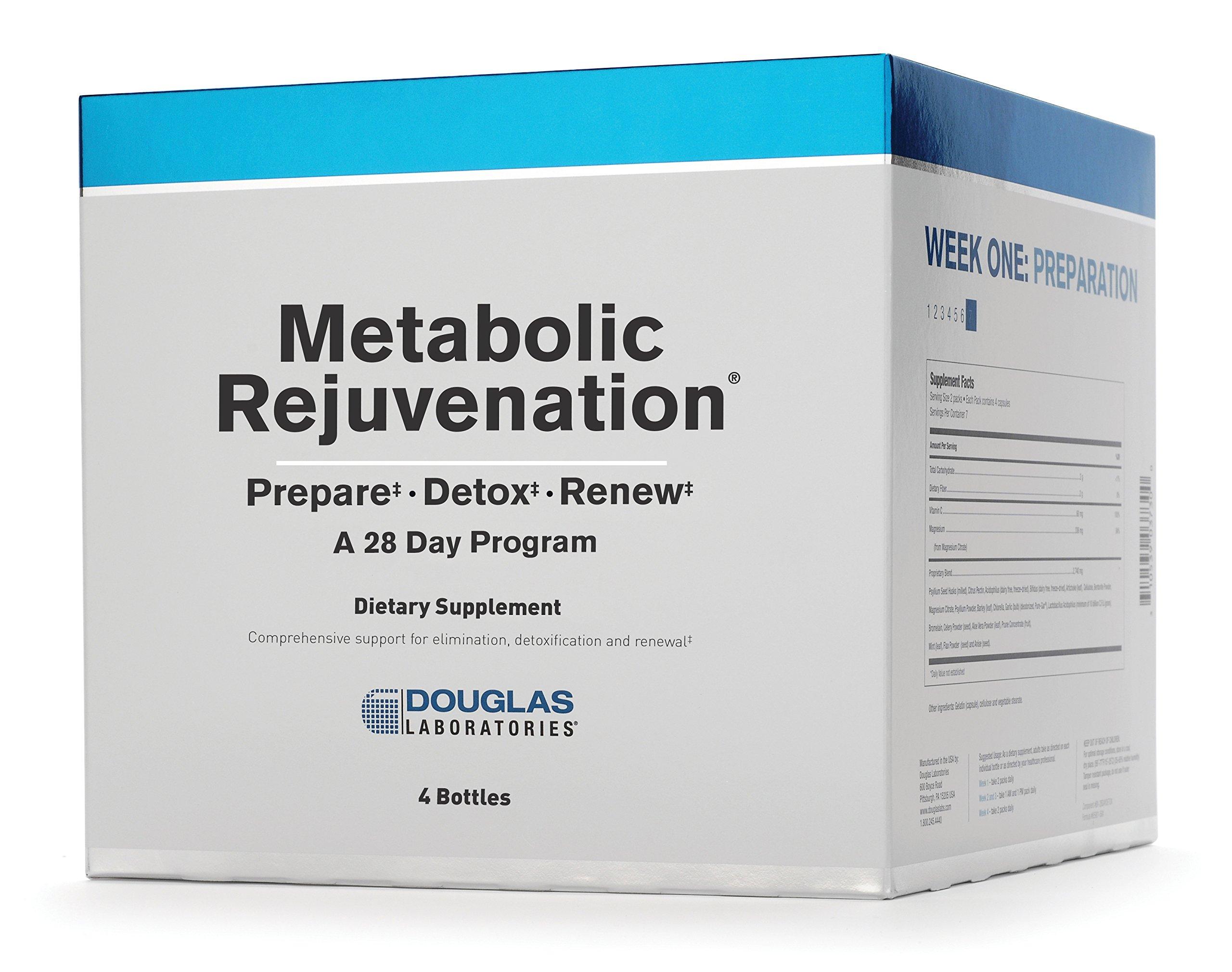 Douglas Laboratories - Metabolic Rejuvenation - A 28 Day Program for Elimination, Detoxification, and Renewal - 4 Bottles