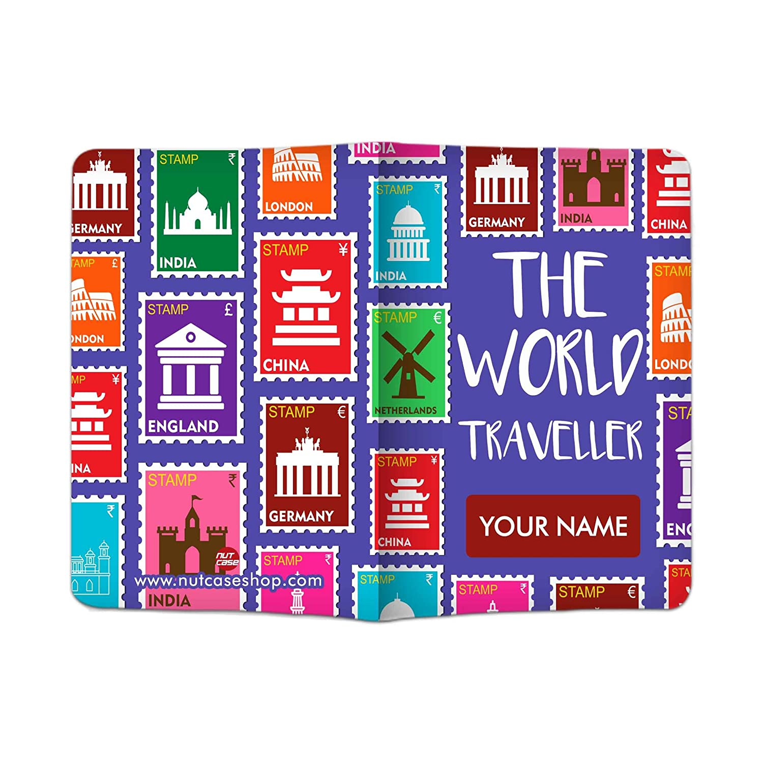Nutcase Designer Passport Cover Travel Document Holder Polyfabric Faux Leather Material