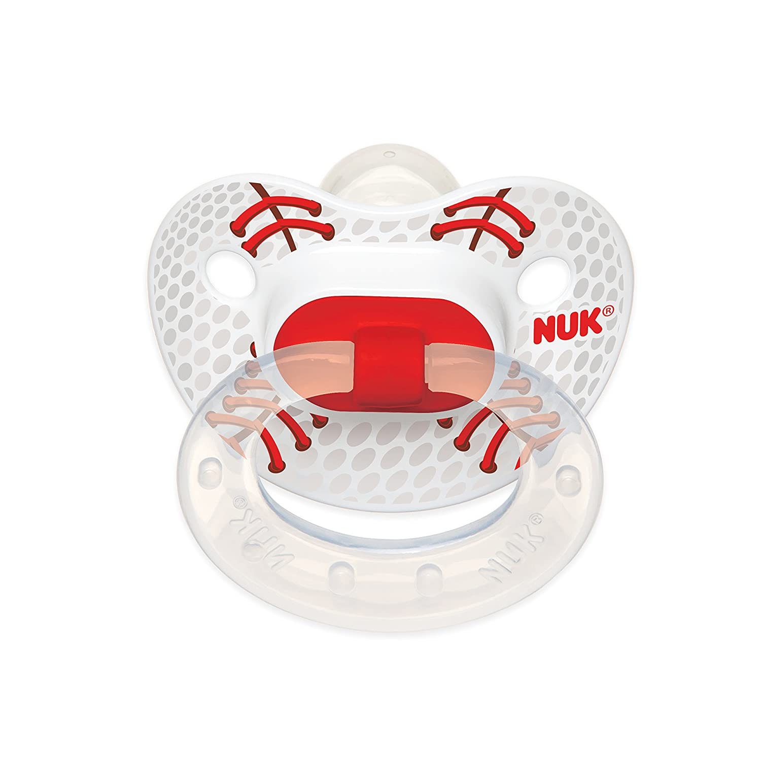 NUK Sports Puller Pacifier in Assorted Colors and Styles, 18-36 Months (Color May Vary)