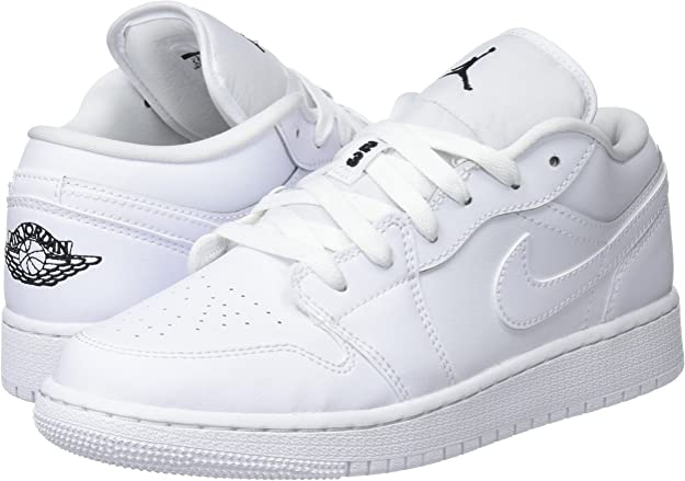 análisis Cervecería Lo dudo  Nike - Air Jordan 1 Low GS - 553560101 - El Color: Blanco - Talla: 6.0:  Amazon.com.mx: Ropa, Zapatos y Accesorios