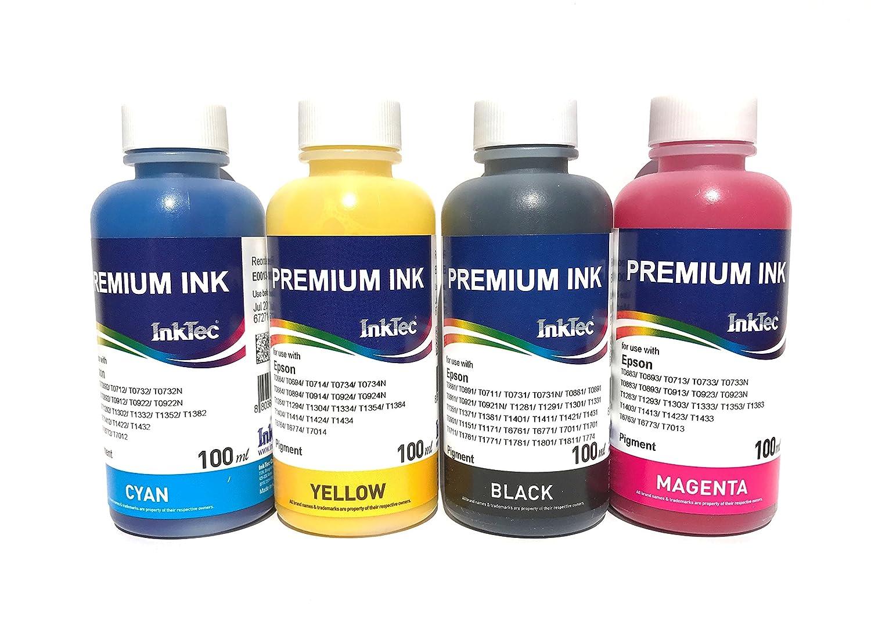 Bramacartuchos T27 - Set de 4 botellas de tinta: Amazon.es ...
