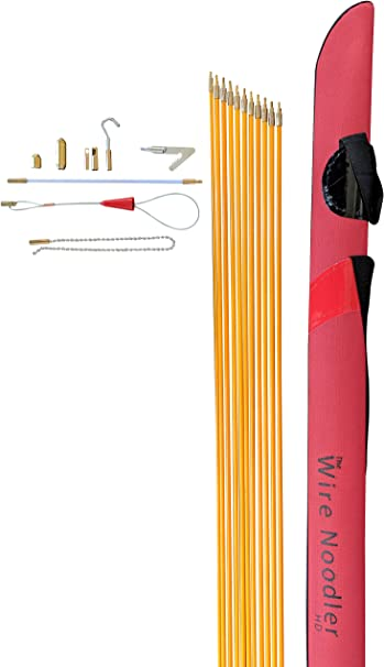 Includes Rod, Wire Noodler Most Complete Wire and Cable Pulling Fish Tape Kit