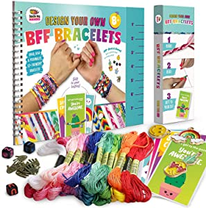 Friendship Bracelet Making Kit, Huge Value, Letter Beads, Crafts For Girls, 20 Multi-Color Embroidery Floss,