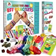 """Friendship Bracelet Making Kit, Huge Value, Letter Beads, Crafts For Girls, 20 Multi-Color Embroidery Floss, """"A-Z"""" Alphabet Beads, Knot Patterns, Colorful String, Bracelet Charms, Friendship Bracelets"""