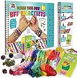 "Friendship Bracelet Making Kit, Huge Value, Letter Beads, Crafts For Girls, 20 Multi-Color Embroidery Floss, ""A-Z…"