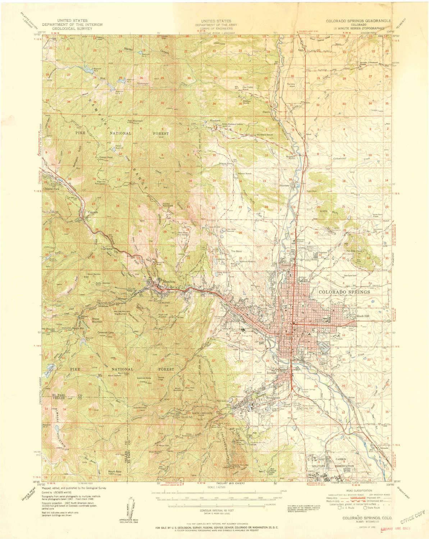 Amazon.com : YellowMaps Colorado Springs CO topo map, 1:62500 Scale ...