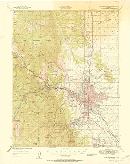 Topographic Map Colorado Springs.Amazon Com Yellowmaps Colorado Springs Co Topo Map 1 62500 Scale