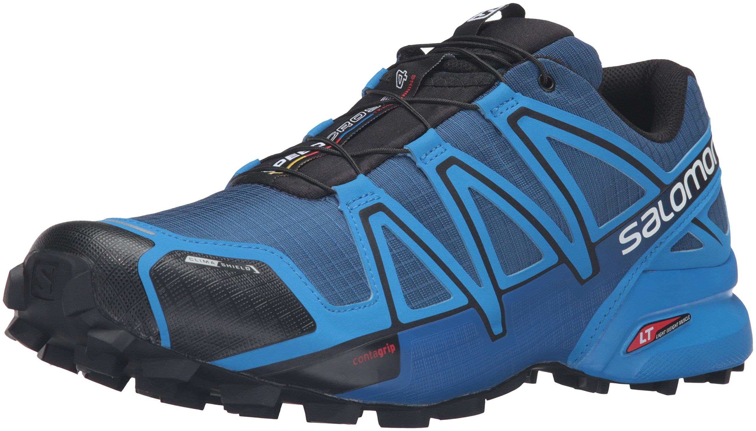 Salomon Men's XA Pro 3D Trail Running Shoes, Blue Depth/Bright Blue/Black, 8 D US