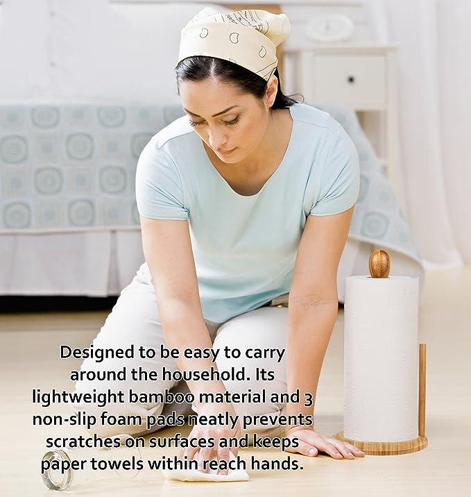 Amazon.com: Greenco Counter Top - Toallero de papel de bambú ...