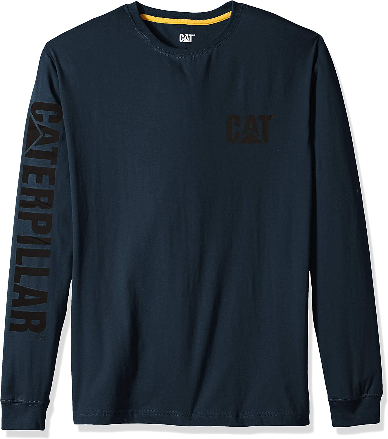 Regular and Big /& Tall Sizes Caterpillar Mens Trademark Banner Long Sleeve T-Shirt