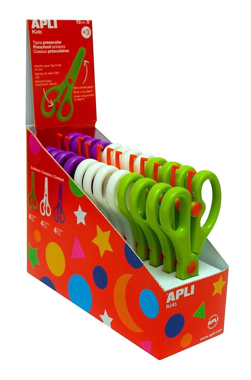 Apli Kids Pre-School Scissors - Assorted Colours (Box of 12) 12821
