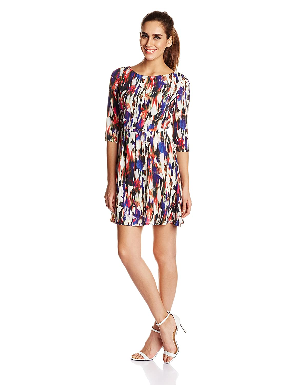French Connection Women's Record Ripple Printed Dress 71EBI
