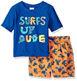Amazon Price History for:Kiko & Max Boys' Set With Short Sleeve Rashguard Swim Shirt