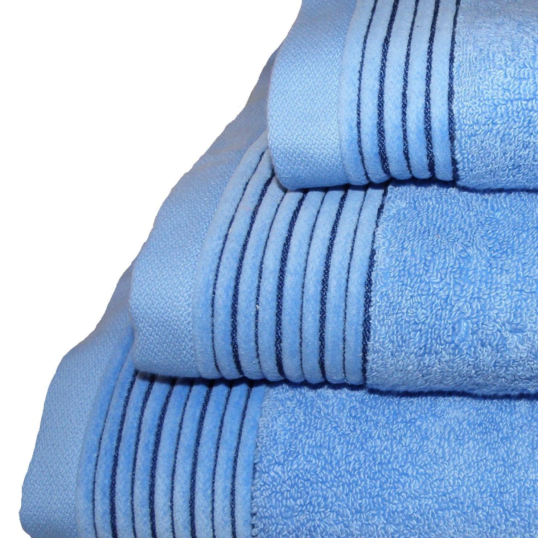 Home Juliet - Juego de 3 toallas para tocador, 33 x 50 cm, lavabo, 50 x 100 cm y baño, 100 x 150 cm, color mar: Amazon.es: Hogar