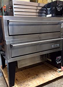 """Garland G56PT/B Gas Double Air-Deck Pizza Oven 56"""" x 36""""D x 7""""H with Stainless Steel Perforated Deck & Top/Bottom Mounted Power Module"""