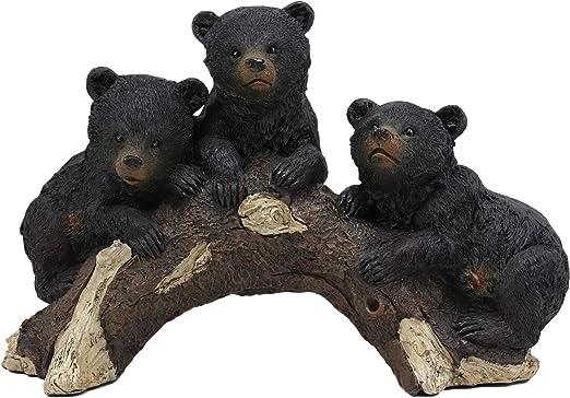 Black BEAR Cub Standing Figurine Sculpture Statue Wild Animals Wildlife New