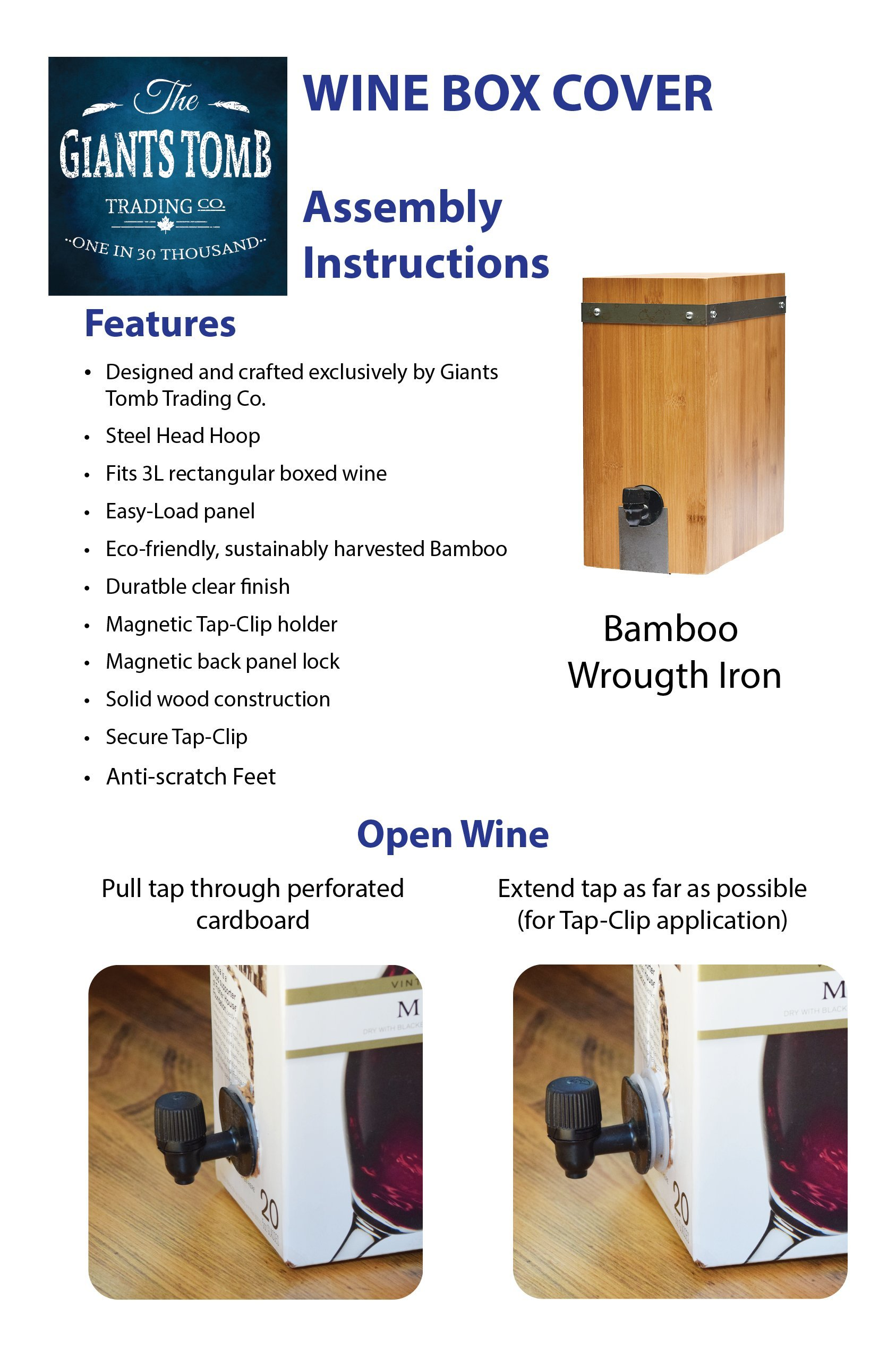 Bamboo Wine Box Cover by Giants Tomb Trading Co. (Image #8)