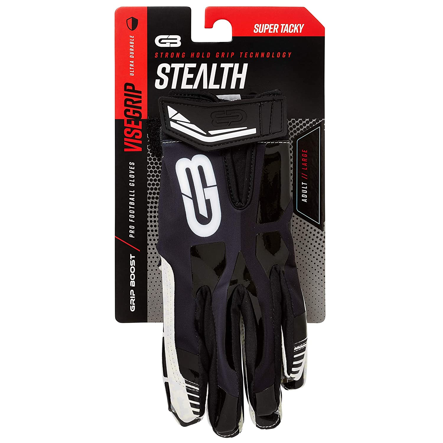 new products 77594 f0981 Amazon.com   Grip Boost Football Gloves  1 Grip Stealth Pro Elite Adult Men  and Youth Football Gloves and Receiver Gloves   Sports   Outdoors