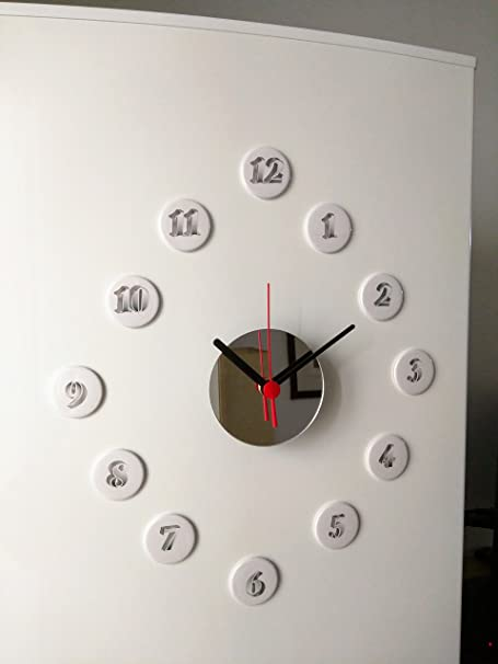 Reloj de cocina para nevera con espejo circular y 12 imanes de 12 ...