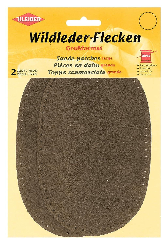 Kleiber - Toppe per maniche/pantaloni grandi in camoscio da cucire, marrone 854-06