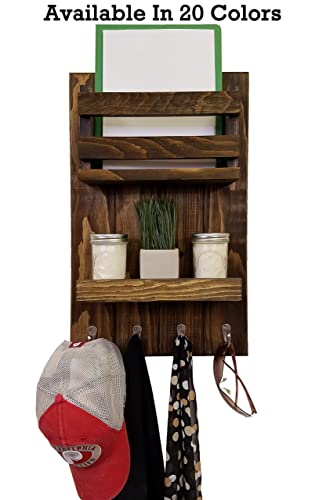 Amazon Com Harvest Rustic Vertical Organizer Entryway Wall Mounted Organizer Main Holder Display Shelf With Lip Key Hooks Coat Hook 20 Custom Colors Handmade,Delta Airlines Baggage Fees Military Dependents