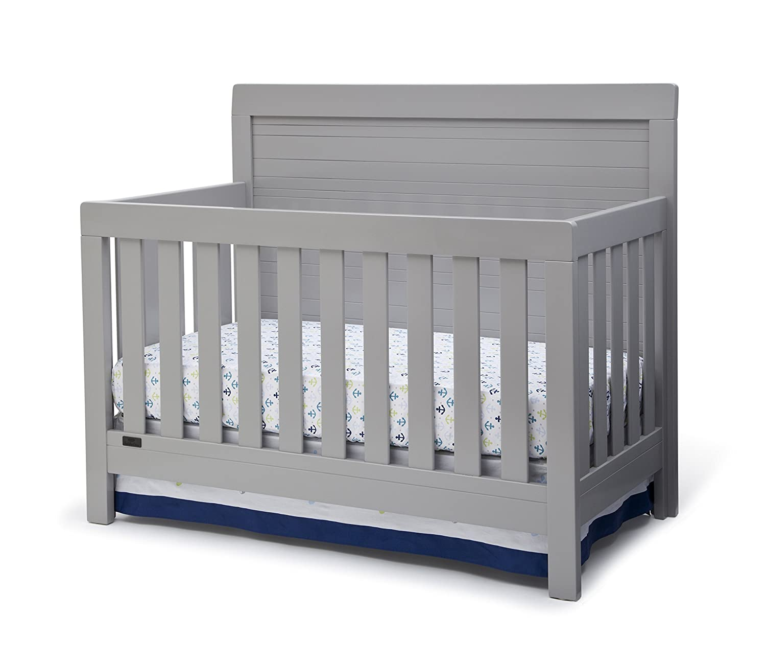 Simmons Kids SlumberTime Rowen 4-in-1 Convertible Baby Crib, Grey