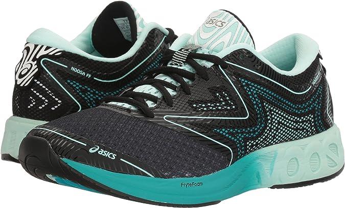 Asics Noosa FF Zapatillas de Running, 5 Reino Unido Mujer Negro/Bay/Viridian Verde 5 Reino Unido: Amazon.es: Zapatos y complementos