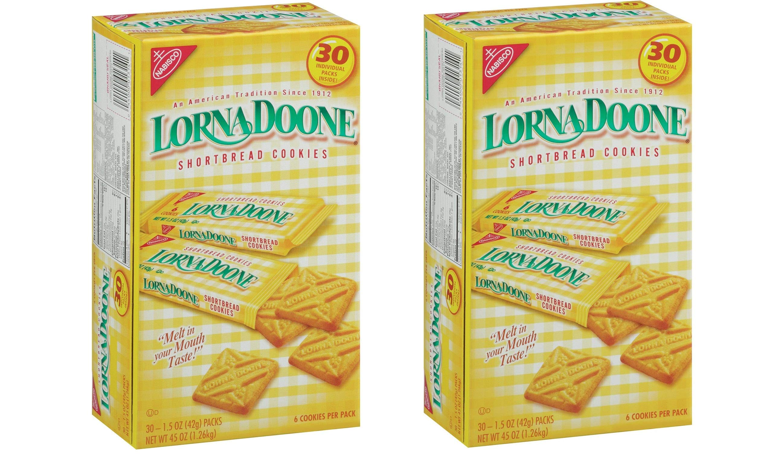 Lorna Doone-Shortbread Cookies, 1.50z Pack, 60Ct by Lorna Doone