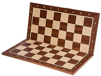 Square - Profesional Tablero de ajedrez Nº 5 - Caoba SK - Plegable ...