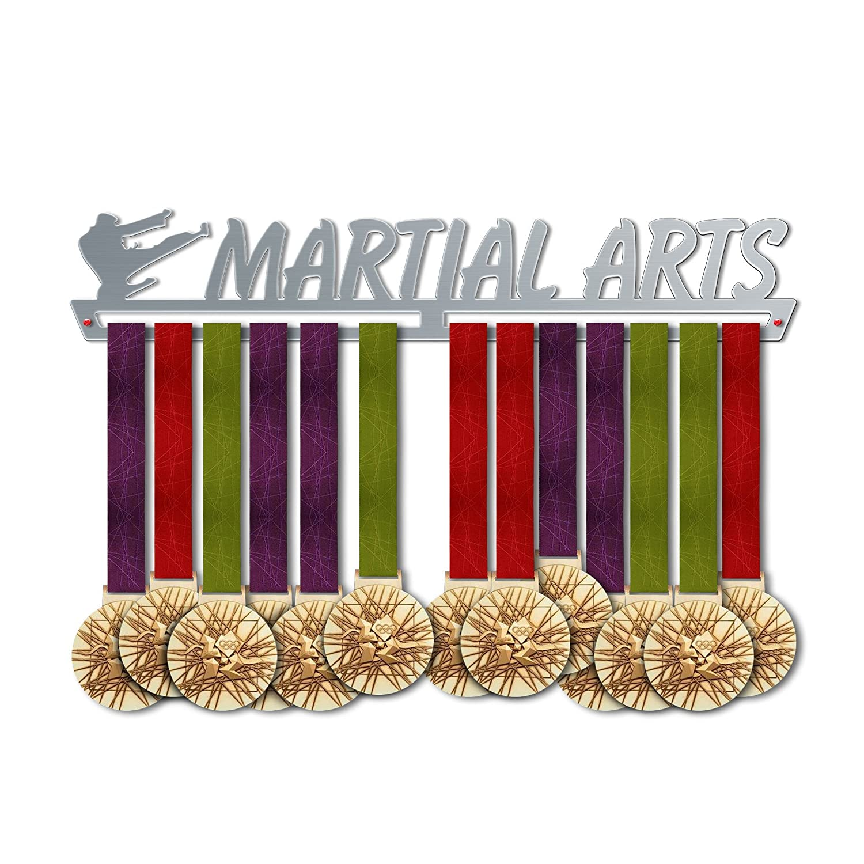 Martial Artsメダルハンガー表示|スポーツメダルハンガー|ステンレススチールMedal表示| by victoryhangers – The Best Gift For Champions 。 B079MMM6TW  13.78 インチ