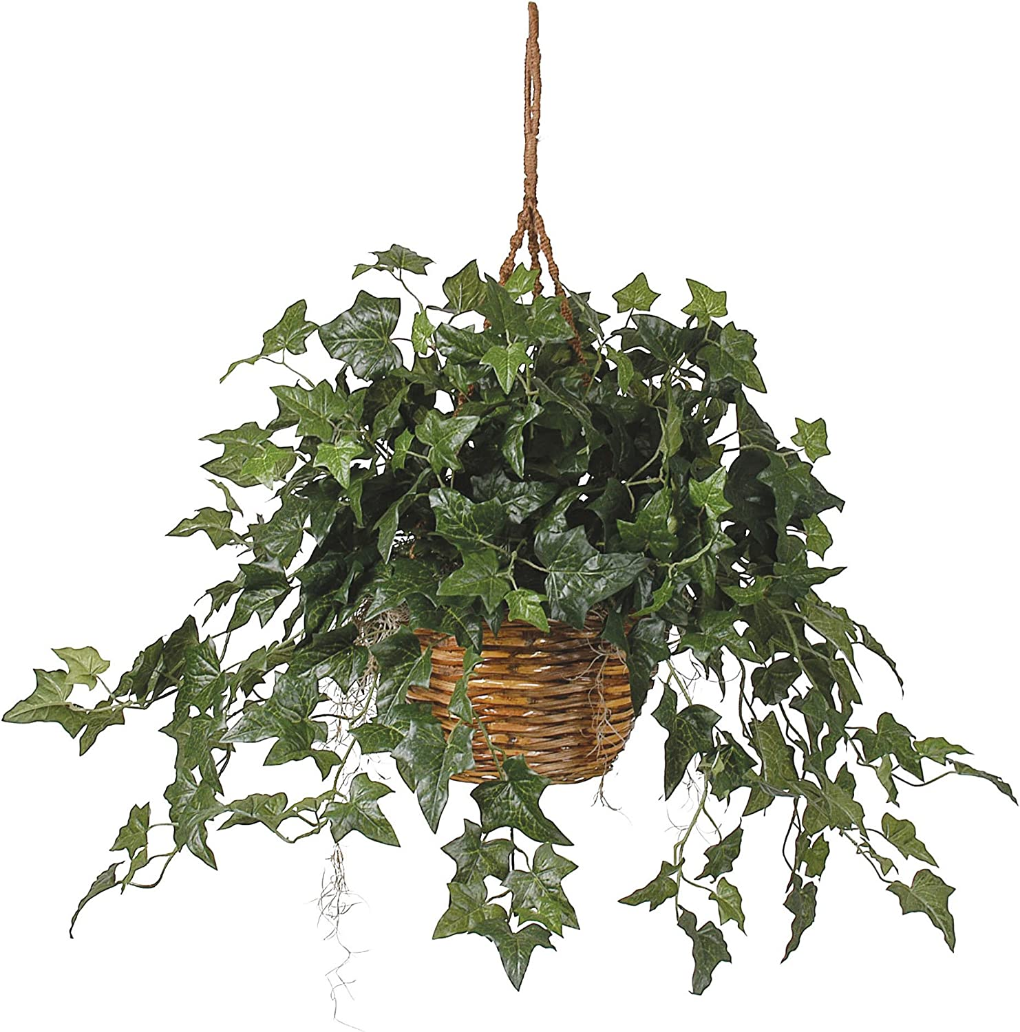 Nearly Natural 6507 26in. English Ivy Hanging Basket