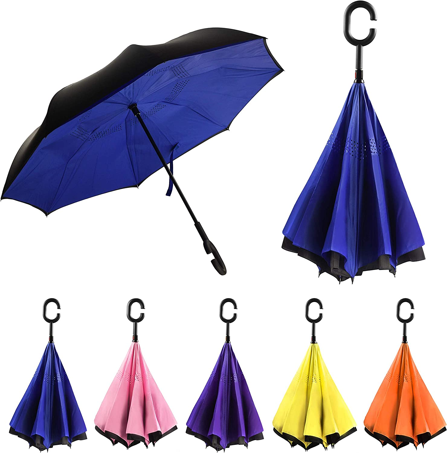 With C-Shaped Handle UV Protection Inverted Folding Umbrellas Steven Universe Spinel Car Reverse Umbrella Windproof And Rainproof Double Folding Inverted Umbrella