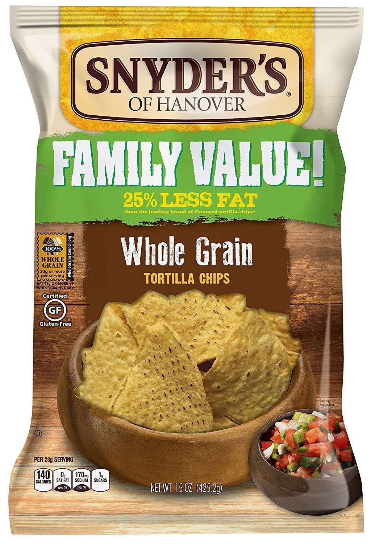 Amazon.com: Snyder\'s of Hanover Tortilla Chips, Whole Grain, 15 ...