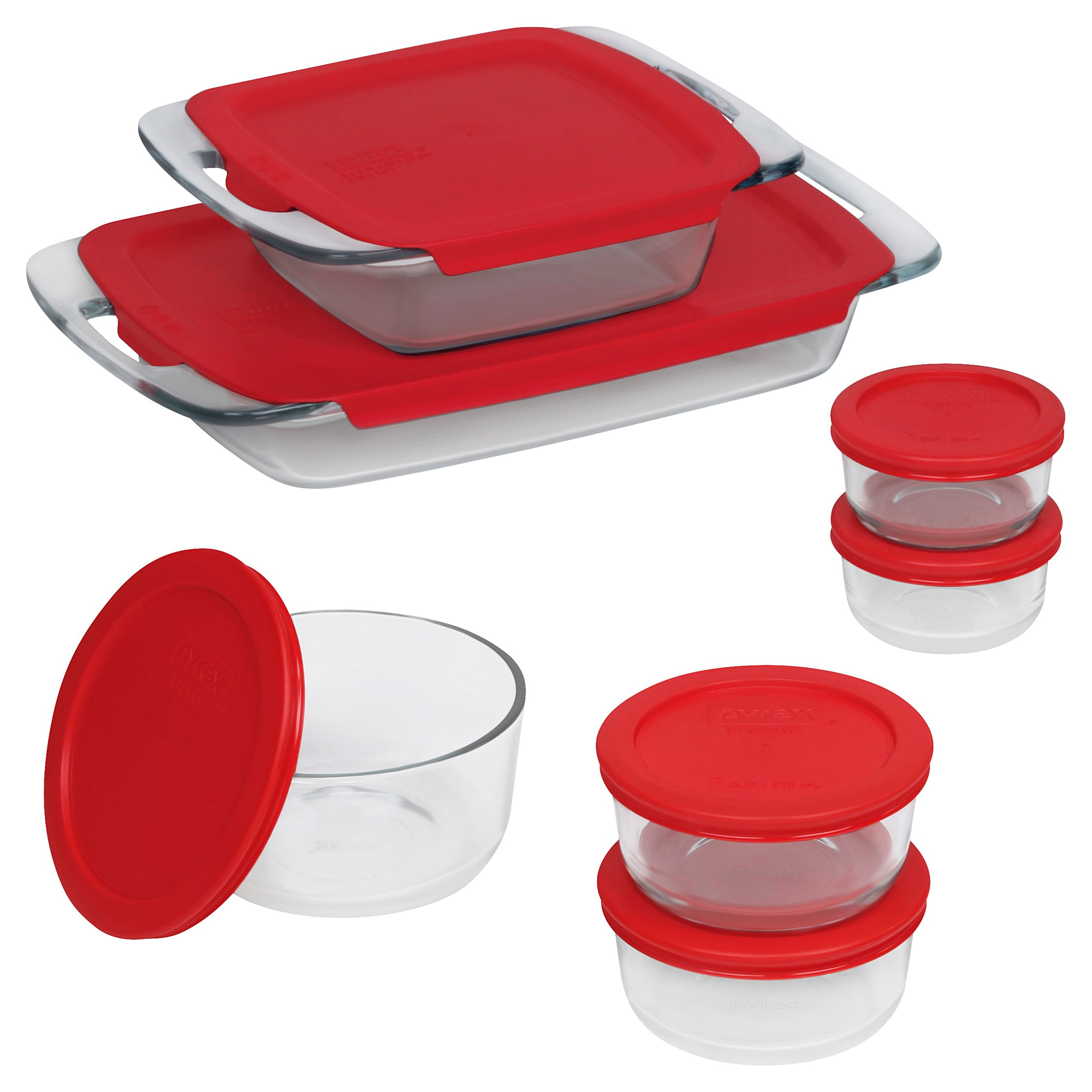 Pyrex Easy Grab Glass Bakeware and Food Container Set (14-Piece) by Pyrex