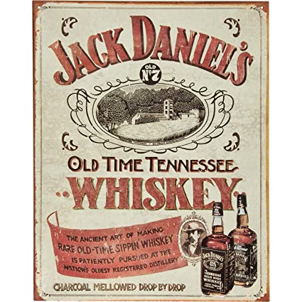 Amazon Jack Daniels Sippin Whiskey Tin Sign 16 X 125 Home