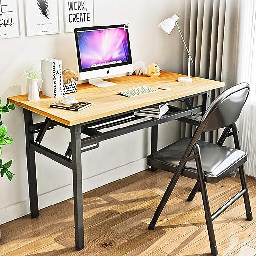 YJHome Mesa de escritorio plegable portátil para computadora de ...
