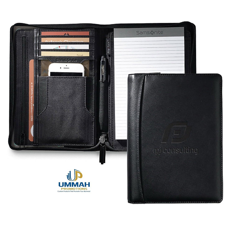 Amazon 12 Custom Samsonite Leather Junior Padfolio Deboss With