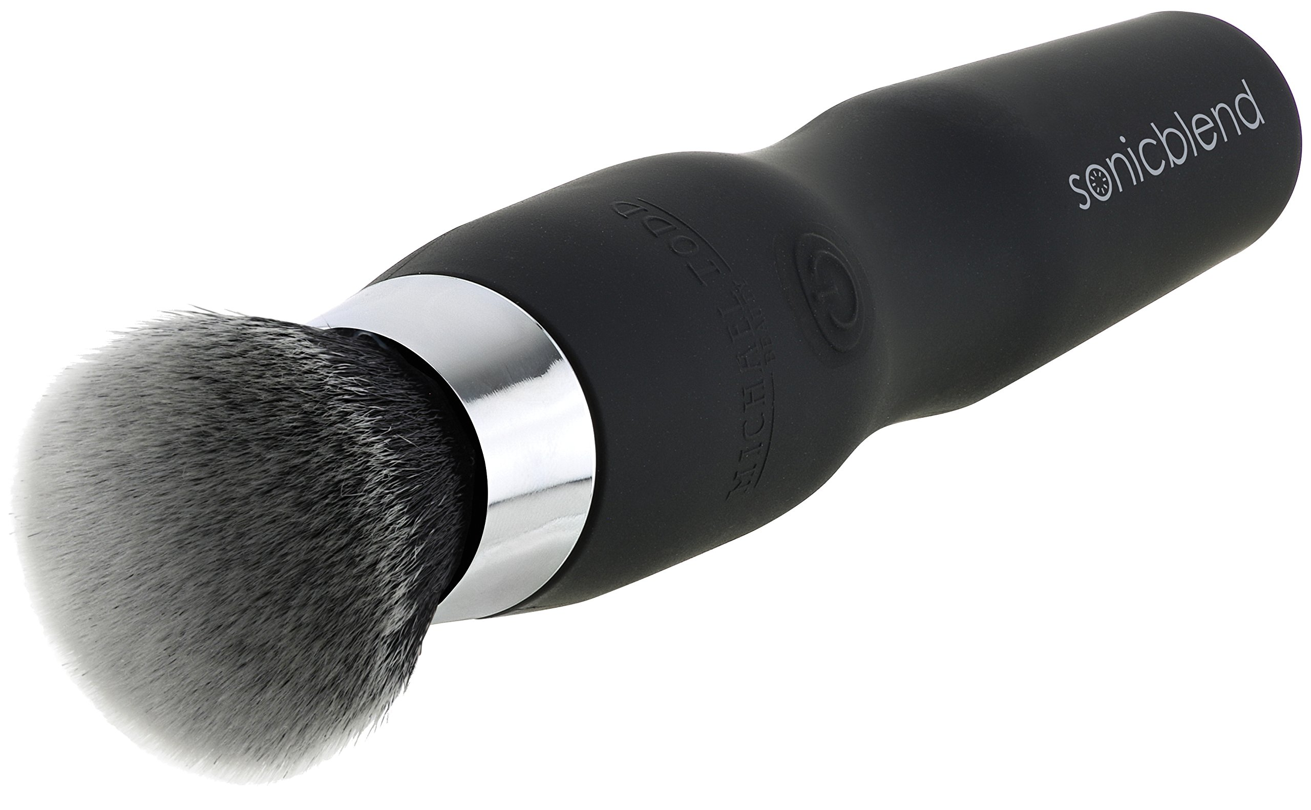 Michael Todd Sonicblend Antimicrobial Sonic Foundation Makeup Brush for Blending, Contouring and Airbrush Finish (Black)