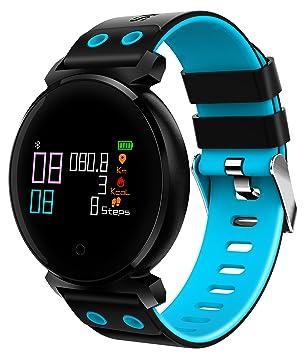 Supersun pulsera inteligente color relojes lcd presión arterial Heart Rate Monitor Cardiaco IP68 impermeable natación Wearable dispositivos para Navidad ...