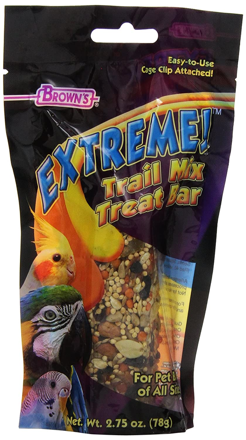 F.M.Brown'S 44920 Extreme Trail Mix Treat Bar For Pet Birds, 2.75-Ounce